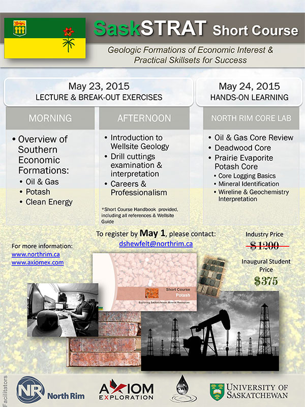 SaskSTRAT Short Course – May 23 & 24, 2015